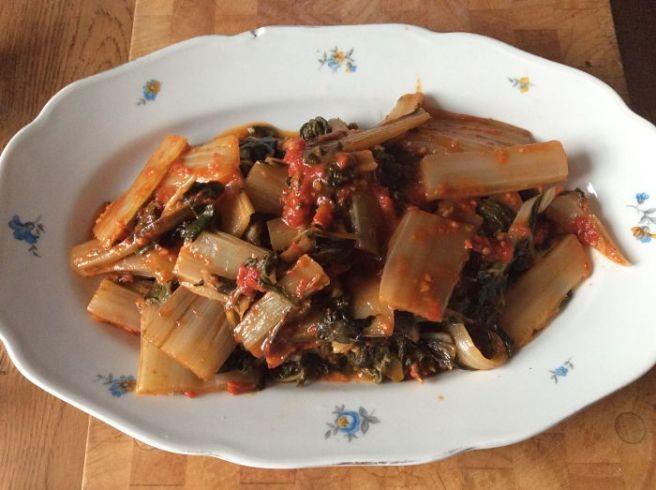 Sicilian chards in tomato sauce