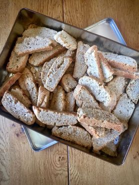 Vegan olive oil almond biscotti