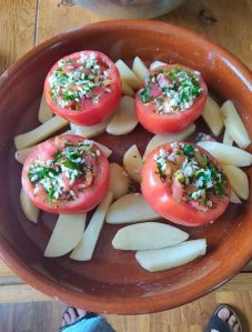 roasted and stuffed tomatoes